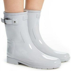 NEW Hunter Refined Short Gloss Symbol Rain Boots 6